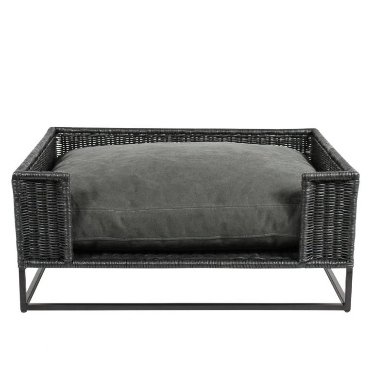 Morris Dog Bed Stonewashed Black 1