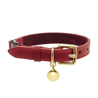 CHESTER-PERSONALISED-RED-LEATHER-CAT-COLLAR-LUXURY