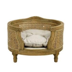 Lord Lou-luxury dog bed -ecru webbing
