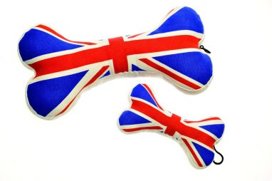 house of paws union jack dog toy