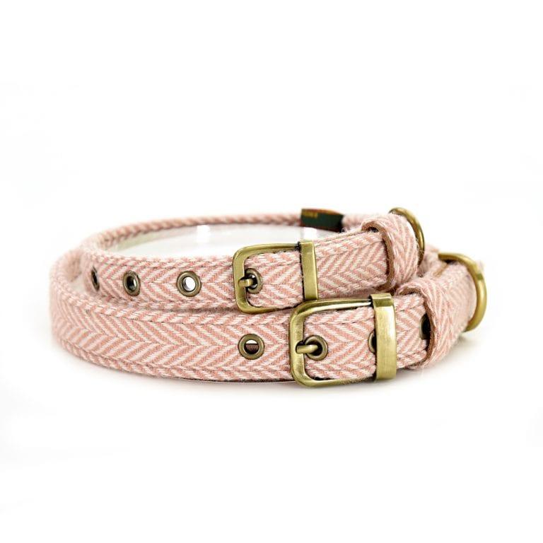 tweedmill Collars Herringbone Dusky Pink