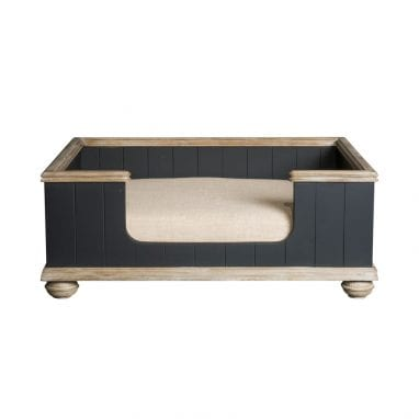 lord lou luxury dog bed Bernard-black