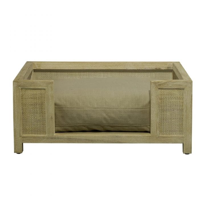 lord lou luxury dog bed Christopher-Whitewash-Ecru
