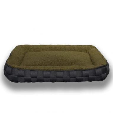Lord Lou luxury dog bed Quinten-Sheep_Brown