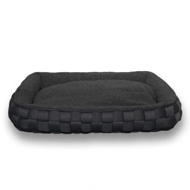 Lord Lou luxury dog bed Quinten-Sheep_grey