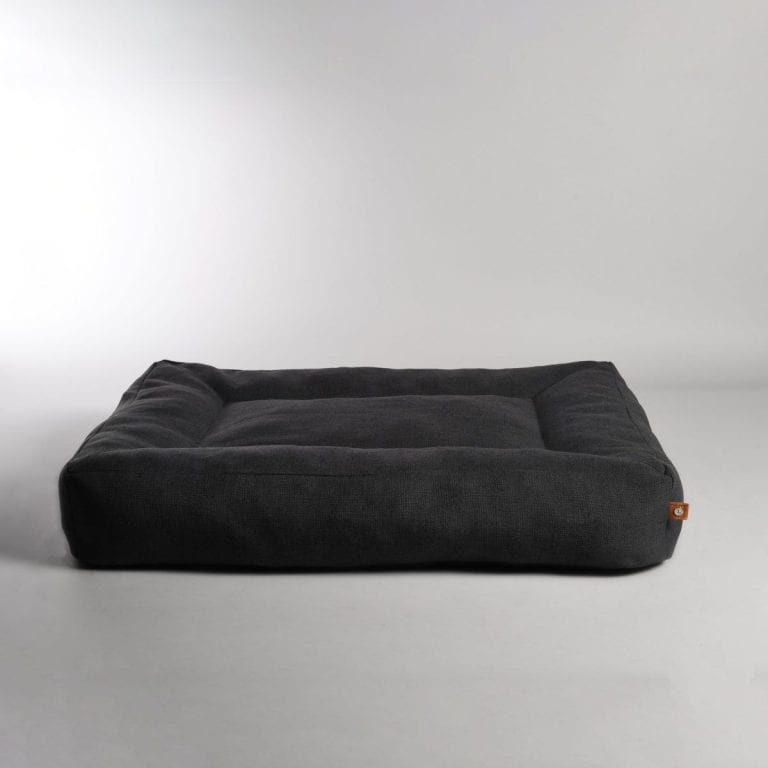 Lord Lou Anthracite Oxford pet bed 1