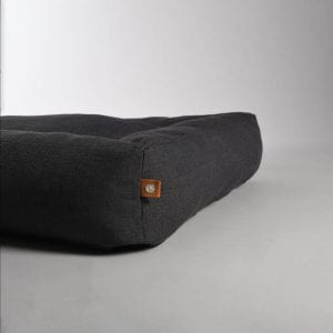 Lord Lou Anthracite Oxford pet bed