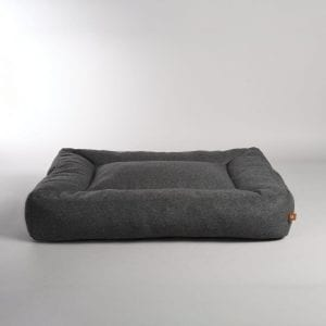 Lord Lou Oxford Dog Bed Drk Grey