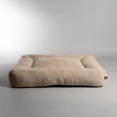 Lord Lou Oxford Pet Bed Ecru 1