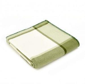 Tweedmill Fleece Throw Block Check Green