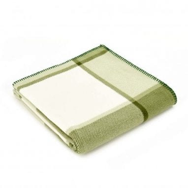 Tweedmill Fleece Throw Block Check Green