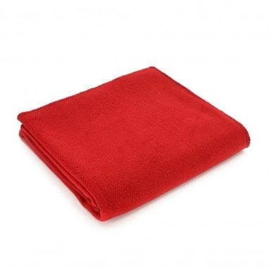 Tweedmill Fleece Throw-Red