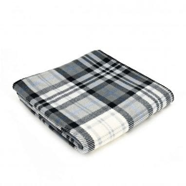Tweedmill Fleece throw cott-grey
