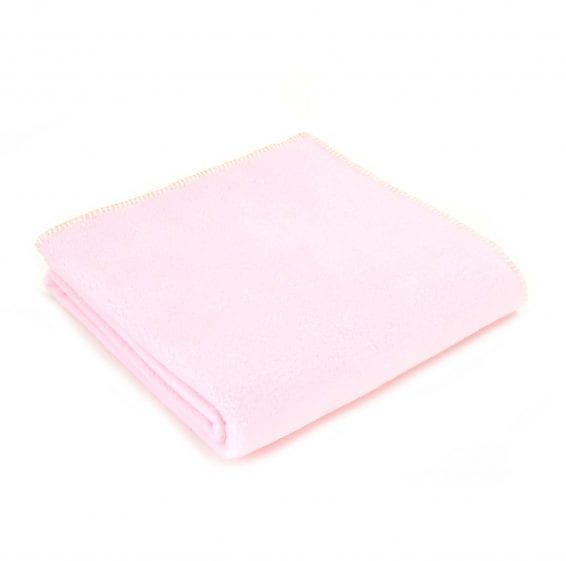 Tweedmill Fleece throw-pastel-pink